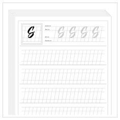 free calligraphy worksheets printable - Google zoeken