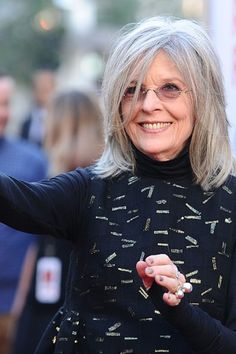 Looking for a cut to show off your silver locks? Try a tousled lob like Diane Keaton.  Check out the 5 best haircuts for gray hair.