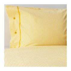 NYPONROS Quilt cover and 4 pillowcases, yellow yellow 200x200/50x80 cm