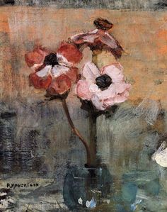 Shop for Piet Mondrian 'Anemones in a Vase' Oil on Canvas Art - Multi. Get free delivery On EVERYTHING* Overstock - Your Online Art Gallery Store! Piet Mondrian, Art Floral, Oil On Canvas, Canvas Art, Ouvrages D'art, Dutch Artists, Fine Art, Flower Art, Painting & Drawing