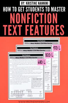 Help upper elementary kids master nonfiction text features with the ideas, FREE downloads, and teaching tips at this blog post. Make reading to learn easier for 3rd, 4th, 5th, and 6th grade students. Details for graphic, informational, and organizational aids are included - as well as print features. An anchor chart, whole class practice, freebies, partner work, & more. #ThirdGradeReading #FourthGradeReading #FifthGradeReading #SixthGradeReading