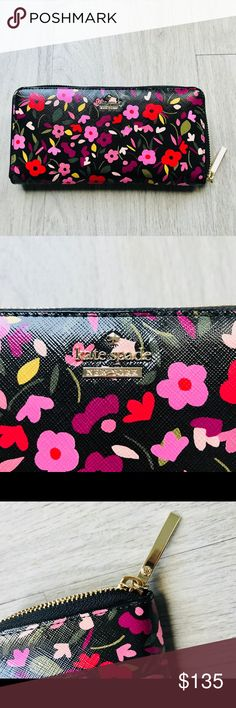 Kate Spade Cameron Street Boho Floral Lacey Wallet NWOT! Kate Spade Cameron Street Boho Floral Zip Lacey Wallet Large. New without tags kate spade Bags Wallets
