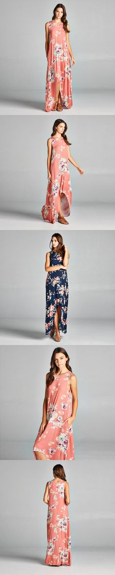 Womens Summer Dresses New Arrival Ladies Boho Dress Sleeveless Blue Halter Neck Floral Print Vintage A Line Straight Dress