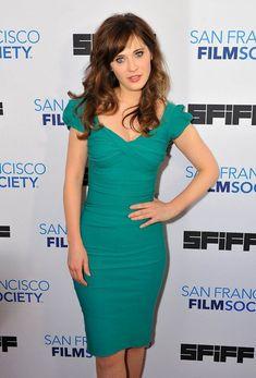 Green fitted dress at San Francisco International Film Festival 2014 Society Awards Night