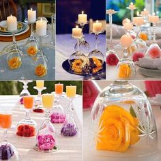 Beautiful centerpieces with flowers!
