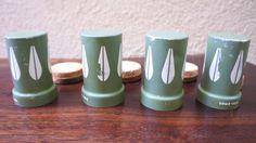 Cathrineholm Green Lotus Spice Jars Spice by TheLionsDenStudio