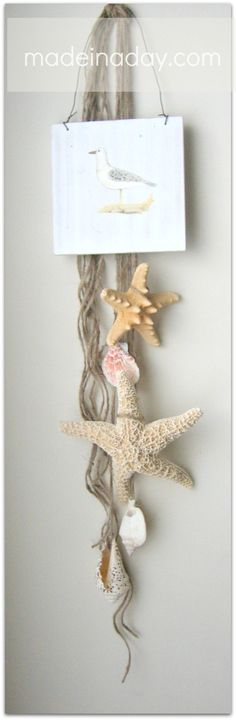 starfish hanging decoration, ive got PLENTY of shells for this one!!!
