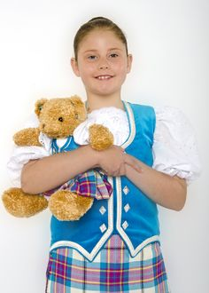 Dress Allendale kilt outfit with matching teddy bear!
