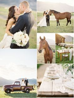 so, the horses are scary, but I like the feel of this wedding :)