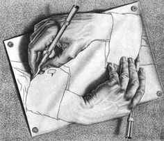 The idea is to occupy Facebook with art, breaking the monotony of selfies, bit strips, and Hollywood news. Whoever likes this will be given an artist and has to post a piece by that artist with this text. I got M.C. Escher