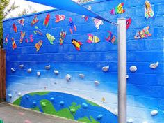 Image result for school murals on wooden board