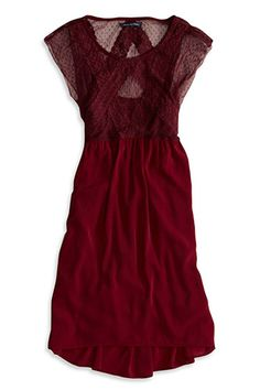 American Eagle Dot Lace Dress, $39.99, available at American Eagle.