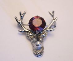 Vintage stag head brooch.  Scottish brooch. by chicvintageboutique, $12.00