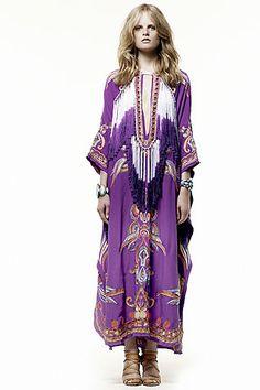 Emilio Pucci's Fringed Silk Caftan.