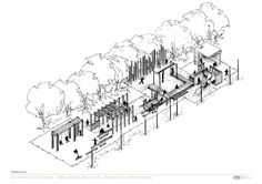 Elysium Playground / Cox Rayner Architects - really interesting concept combining architecture with different kinds of play