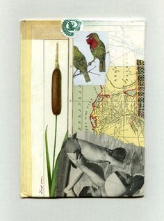 """""""Liquid Melody"""" ~ collage miniature by J A Dixon ~ 5.375 x 7.625 inches ~ collection of I C Adkins"""