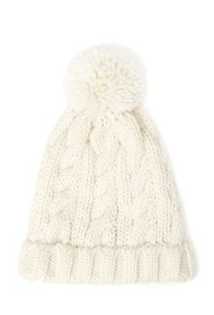 Cable Knit Pompom Beanie - Womens accessories, jewellery and bags | shop online | Forever 21 - 2055878483 - Forever 21 EU