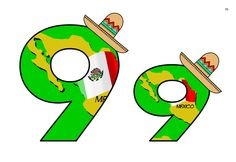 Flag of Mexico with hats on themed Alphabet and Numbers.  Available for FREE at:  http://www.tes.co.uk/teaching-resource/Flag-of-Mexico-Themed-Alphabet-and-Numbers-6445734/