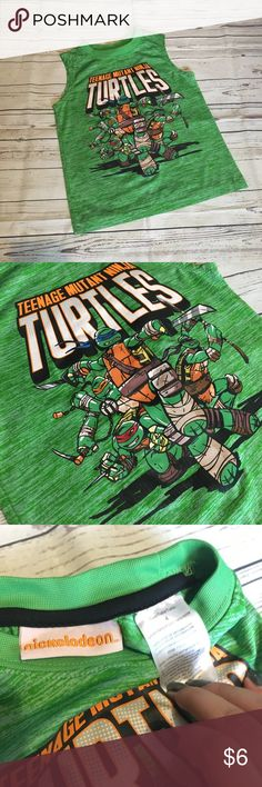 • TMNT Sleeveless Top 🐢 TMNT active top for boys. In good used condition- size 4. Nickelodeon Shirts & Tops Tank Tops