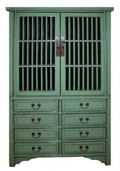 2 Door 8 Drawer Cabinet