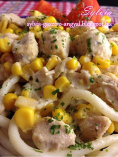 Sylvia Gasztro Angyal: Tejszínes kukoricás csirkemell Potato Salad, Chicken Recipes, Bacon, Food And Drink, Rice, Vegetables, Ethnic Recipes, Recipes, Veggies