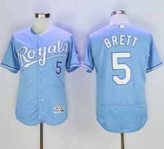 94e1d045 ... Royals 5 George Brett Light Blue Flexbase Authentic Collection Stitched  MLB Jersey · MlbKansas CityBaseballLight .