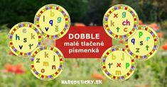 DOBBLE - malé tlačené písmenká Homemade Toys, Teaching, Education, Games, Articles, Diy Toys, Gaming, Onderwijs, Learning