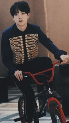 How can a man look sexy and a bicycle and was caught off guard and not looking?