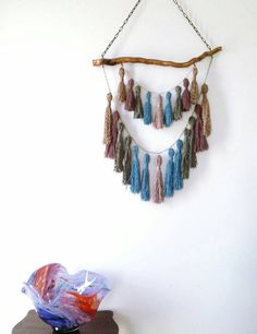 Check out this item in my Etsy shop https://www.etsy.com/uk/listing/452066874/tassel-wall-hanging-tassels-decor