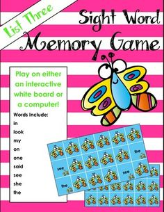 Sight Word Matching Game for computer or whiteboard from Mrs. Molly's Menagerie on TeachersNotebook.com -  - Sight word matching game to be played in small group or as a whole class. The game is played on the computer or whiteboard. Great way to integrate technology!