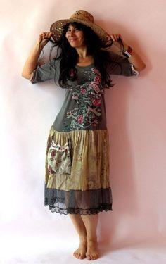 Подержанные и переделал платье-туника с jamfashion на Etsy, $ 86.00