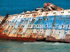 Ex-SS America (SS American Star); wrecked at Fuerteventura, Canary Islands