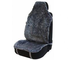 Sitzaufleger aus Lammfell silber