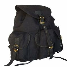 Pin it! :)  Follow us :))  zCamping.com is your Camping Product Gallery ;) CLICK IMAGE TWICE for Pricing and Info :) SEE A LARGER SELECTION of Camping Daypack Backpacks at http://zcamping.com/category/camping-categories/camping-backpacks/daypack-backpacks/ - camping, backpacks, daypacks camping gear, camp supplies -  Military Inspired Stylish Backpack Canvas Day Pack Black « zCamping.com