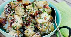 Infused with fresh herbs and lemon juice this warm roast potato salad makes the perfect accompaniment to any summer meal.