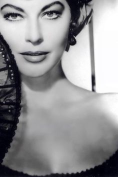 Ava Gardner was a favorite actress to play in Hemingway's novels made into movies.
