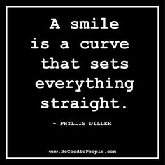 A curve in a line will turn it into a smile!
