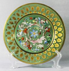 MOSER DECORATED PLATE : Lot 42