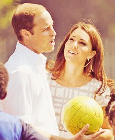 So in Love. Duke and Duchess of Cambridge supporting the Olympics.