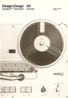 :: Braun TG 60 reel-to-reel tape recorder. Photo for Design + Design Magazine (Dec 94 - Feb 95) by Jo Klatt ::