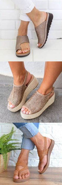 SHOP Hot Summer Sandals for You to Be Ready for Your Summer!Up to - Simone Freitag - Damen Hochzeitskleid and Schuhe! Comfy Shoes, Cute Shoes, Comfortable Shoes, Me Too Shoes, Summer Dress, Summer Shoes, Summer Sandals, Spring Summer, Fashion Shoes
