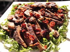 Oven Dried Tomatoes, Rib-Eye Steaks with Porcini Rub recipe from Barefoot Contessa via Food Network Rub Recipes, Meat Recipes, Dinner Recipes, Cooking Recipes, Recipies, Grill Recipes, Oven Dried Tomatoes, Cherry Tomatoes, Roasted Tomatoes