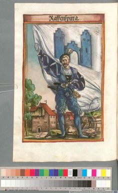 Colour Plate: German State Banners:  Ravensburg, Imperial City
