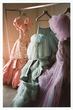 Vintage gowns.