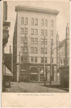 Lincoln Building Johnstown PA Postcard 1907