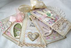 shabby chic Tag books