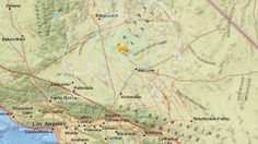 A 4.2-magnitude earthquake struck 26 north-northwest of Barstow on Dec. 27, 2015. (Credit: USGS)
