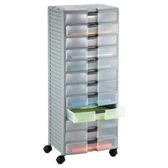 The Container Store > 12-Drawer Storage Chest. Could be great for organizing tools, metal, findings, or finished pieces. Label the drawer fronts for easy sorting.