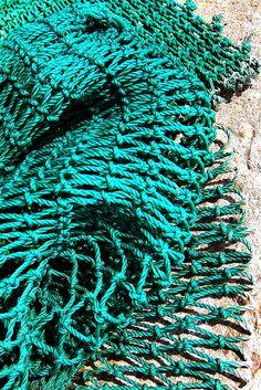 turquoise netting