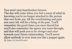 Bravo, that is perfect and true, time heals all wounds!